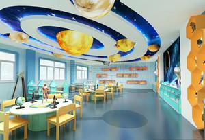 现代简约风格幼儿园教室吊顶装修效果图