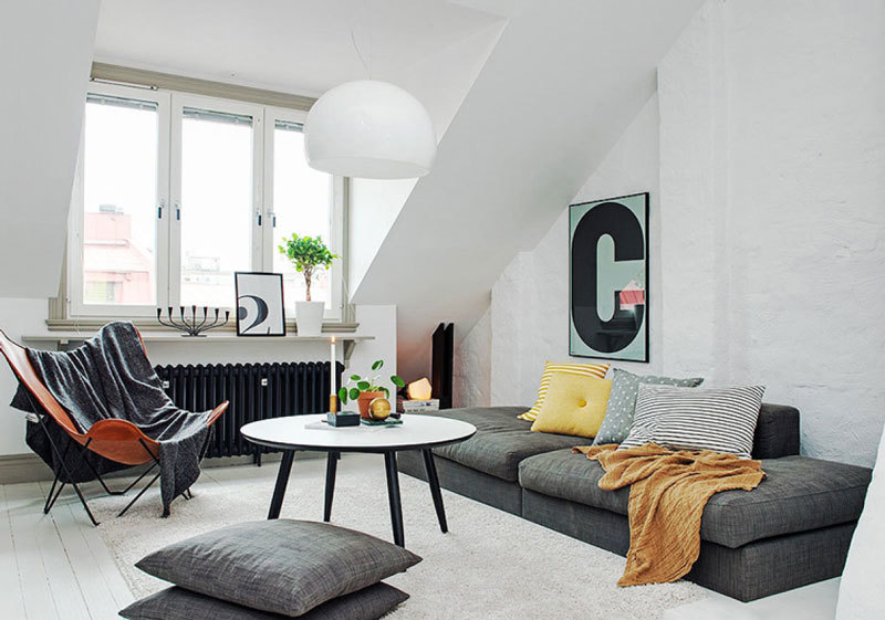 北欧风格简约阁楼客厅装修效果图赏析