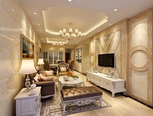 106平米简欧风格精致三室两厅室内装修效果图