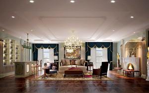 300平米欧式风格精致别墅室内装修效果图案例