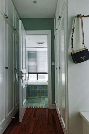 126平米清新美式风格精致三室两厅室内装修效果图