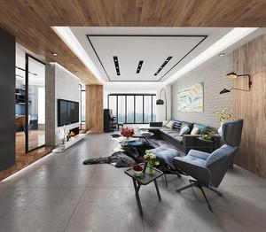 90平米现代风格时尚黑色系室内装修效果图
