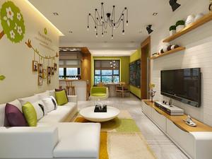 94平米现代风格精致三室两厅室内装修效果图