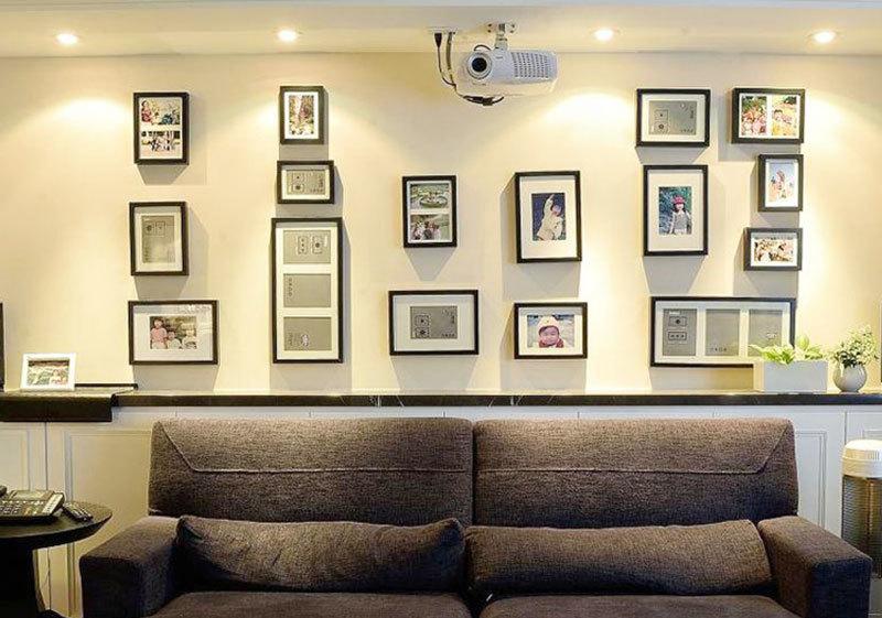 现代风格时尚客厅照片墙装修效果图赏析