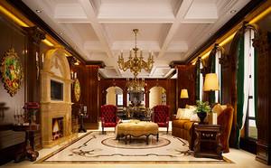 400平米新古典主义风格别墅室内装修效果图赏析