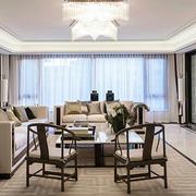 新中式风格简约大气客厅装修效果图赏析
