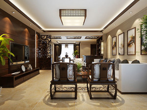 100平米中式风格古典古韵室内装修效果图赏析