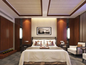 中式风格精致宾馆客房设计装修效果图赏析