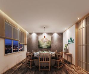 中式风格精美餐厅包厢设计装修效果图