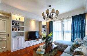 98平米简约美式风格两室两厅室内装修效果图赏析