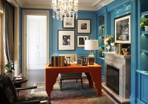 美式风格精致创意书房装修效果图欣赏