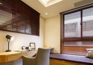 现代风格小书房飘窗设计装修效果图