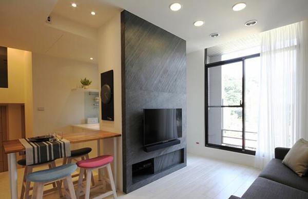 75平米现代风格简约两室一厅室内装修效果图赏析