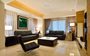 90平米新中式风格精致室内装修效果图案例