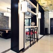中式风格精致别墅室内吧台装修效果图赏析