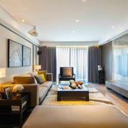 中式风格大户型精致客厅装修效果图赏析