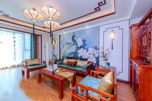中式风格精致大气客厅背景墙装修效果图赏析