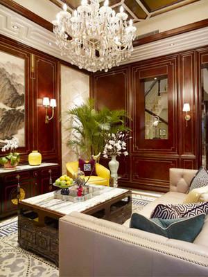 344平米中式风格别墅室内装修效果图赏析