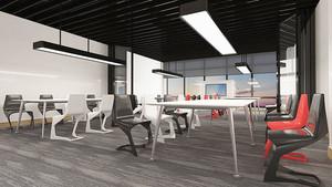 90平米现代风格办公室装修效果图