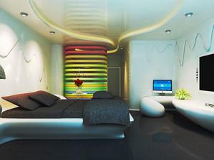 现代简约风格时尚宾馆客房设计装修效果图