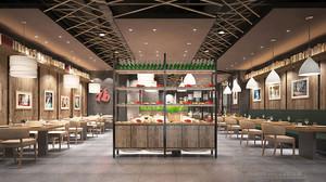140平米新中式风格餐厅装修效果图赏析