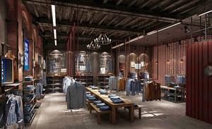 后现代风格精致男服装店装修效果图