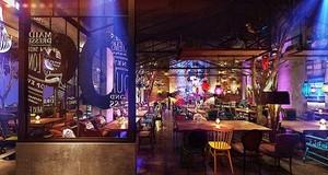 120平米混搭风格时尚音乐酒吧装修效果图