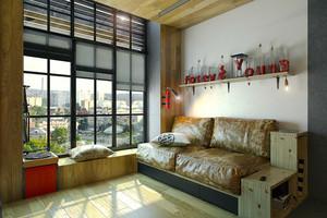 64平米后现代风格时尚loft装修效果图案例