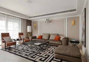 现代简约风格大户型客厅沙发装修效果图赏析