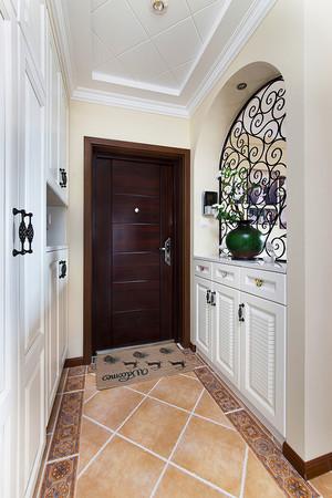 121平米简约美式风格精致三室两厅室内装修效果图