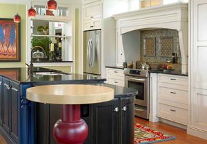 美式风格别墅室内整体厨房装修效果图鉴赏