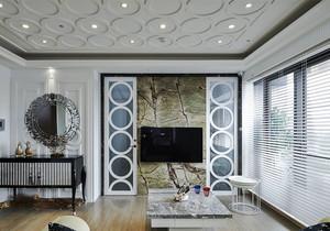 欧式风格客厅大理石电视背景墙装修效果图