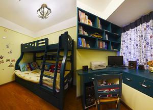 美式田园风格两室两厅两卫装修效果图赏析