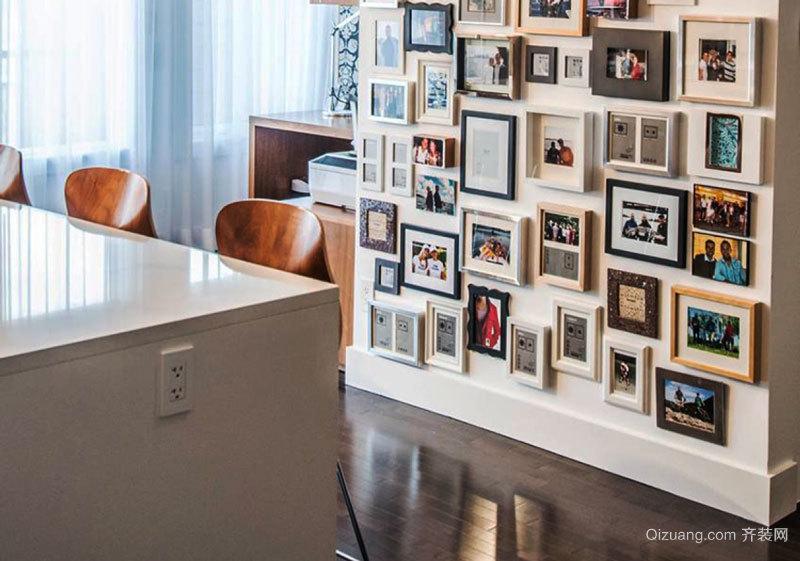 现代风格时尚室内照片墙装修效果图赏析