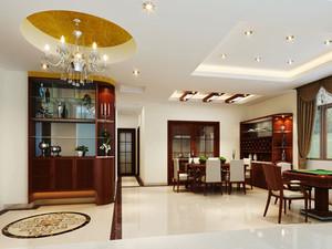 中式风格精致客厅玄关设计装修效果图