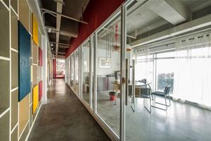现代风格时尚办公室装修效果图