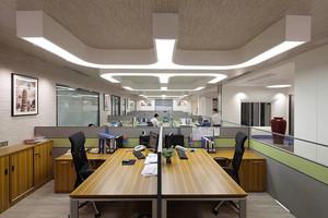 96平米现代风格中型办公室装修效果图