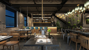 后现代风格创意餐厅装修效果图