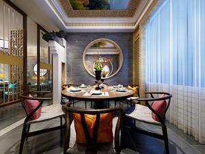 中式风格精致餐厅包厢装修效果图鉴赏