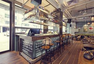 混搭风格乡村主题酒吧吧台装修效果图