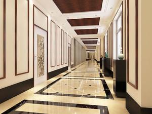 中式风格五星级酒店过道装修效果图