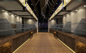 20平米现代风格快餐店装修效果图赏析