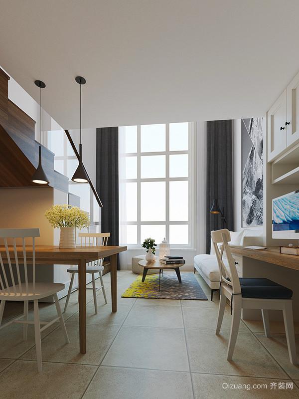59平米北欧风格简约loft装修效果图赏析