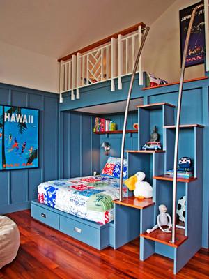 地中海风格精致蓝色儿童房装修效果图欣赏