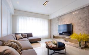 86平米简约风格两室两厅室内装修效果图赏析