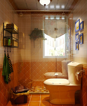 美式田园风格精致两室两厅一卫装修效果图赏析