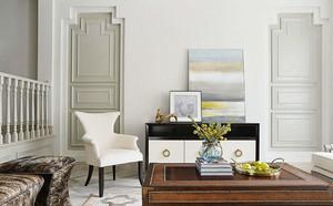 300平米欧式风格淡雅浅色别墅室内装修效果图