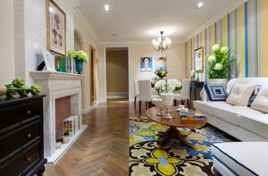 90平米清新风格简约室内装修效果图赏析