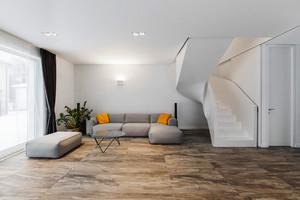 180平米现代风格白色主题复式楼室内装修效果图