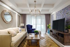 现代简约美式风格精致四室两厅室内装修效果图